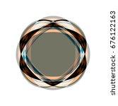 sparkling round diamond | Shutterstock .eps vector #676122163