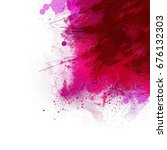 colorful watercolor background   Shutterstock . vector #676132303