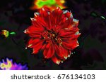 abstract flower | Shutterstock . vector #676134103