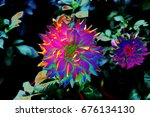 abstract flowers | Shutterstock . vector #676134130