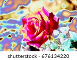 abstract rose flower | Shutterstock . vector #676134220