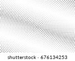 abstract halftone dotted... | Shutterstock .eps vector #676134253
