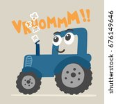 cute tractor illustration for... | Shutterstock .eps vector #676149646