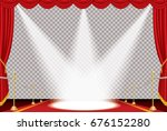 vector opened red curtain stage ... | Shutterstock .eps vector #676152280