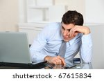 portrait of exhausted... | Shutterstock . vector #67615834