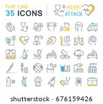 set vector line icons  sign and ... | Shutterstock .eps vector #676159426