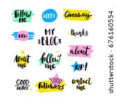 vector set of elements for a... | Shutterstock .eps vector #676160554