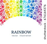 rainbow background made of... | Shutterstock .eps vector #676164376