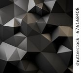 abstract low triangular polygon ... | Shutterstock . vector #676168408
