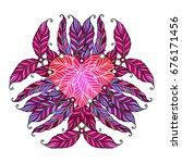 feminine pink apparel print.... | Shutterstock .eps vector #676171456