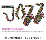 jazzy colorful music background ... | Shutterstock .eps vector #676175014
