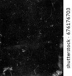black scratched background.... | Shutterstock . vector #676176703