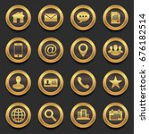 gold contact in premium icons ...