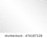 abstract halftone dotted... | Shutterstock .eps vector #676187128