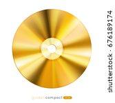 golden disc  eps10 vector... | Shutterstock .eps vector #676189174