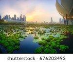 Vibrant Panorama Background Singapore Skyline - Fine Art prints