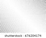 abstract halftone dotted... | Shutterstock .eps vector #676204174