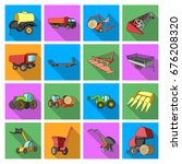 trailer  dumper  tractor ... | Shutterstock .eps vector #676208320
