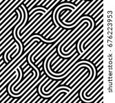 striped seamless vector pattern....   Shutterstock .eps vector #676223953