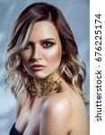 beauty portrait of beautiful...   Shutterstock . vector #676225174