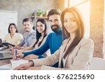 teambuilding concept. close up... | Shutterstock . vector #676225690