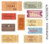 old tickets for movie hall and... | Shutterstock .eps vector #676225879