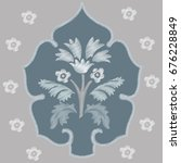 embroidery. flowers in a... | Shutterstock .eps vector #676228849