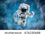 Astronaut Magic Blue Galaxy Astronaut - Fine Art prints