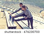 fitness  sport  exercising and... | Shutterstock . vector #676230703