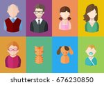 flat people icons  mother ... | Shutterstock .eps vector #676230850