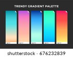 trendy gradient swatches.... | Shutterstock .eps vector #676232839