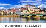 landmarks of portugal  ... | Shutterstock . vector #676232899