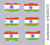 india independence day. set of... | Shutterstock .eps vector #676235173