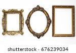 three elegant  ancient  vintage ...   Shutterstock . vector #676239034