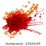 abstract hand drawn watercolor... | Shutterstock . vector #67624159
