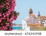 Blooming Oleander Against The...