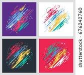 geometric set vector pattern ... | Shutterstock .eps vector #676242760