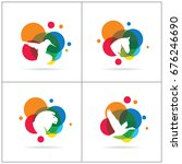 colorful animal vector logo... | Shutterstock .eps vector #676246690