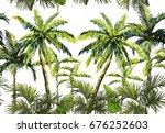 beautiful seamless vector... | Shutterstock .eps vector #676252603