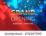 grand opening banner concept.... | Shutterstock .eps vector #676267540