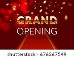 grand opening invitation... | Shutterstock .eps vector #676267549