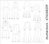 technical drawing sketch set of ... | Shutterstock .eps vector #676268209