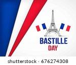 bastille day. vector background.   Shutterstock .eps vector #676274308