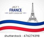 bastille day. vector background.   Shutterstock .eps vector #676274398