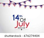 bastille day. vector background.   Shutterstock .eps vector #676274404