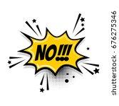 lettering no  boom star. comics ... | Shutterstock .eps vector #676275346