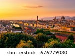 Sunset View Of Florence  Ponte...
