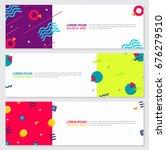 memphis style banner design set ... | Shutterstock .eps vector #676279510