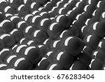 3d Rendering Black And Grey...