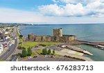 carrickfergus castle county... | Shutterstock . vector #676283713